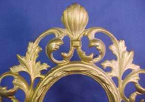 Antique Gold Painted Cast Iron Stand Up Frame