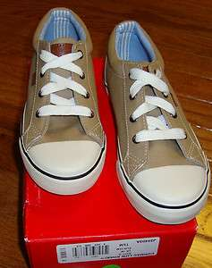 NEW TOMMY HILFIGER BOYS CORMAC KHAKI SHOES 1.5M