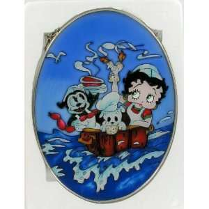 Betty Boop Stained Glass Art Row Your Boat Nursery Rhyme