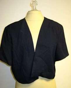 After Dark Navy blue sleeveless formal dress jacket 18