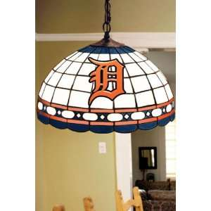 Team Logo Hanging Lamp 16hx16l Detroit Tigers: Home