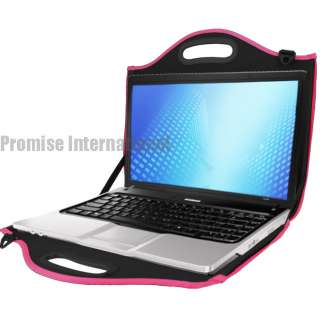 "Hot Pink Hard EVA Shoulder/ Carrying Case/ Bag For 15.4"" to 17"