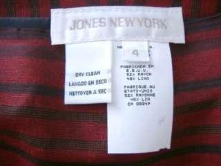 NWT New Jones New York Indian Red Skirt   4