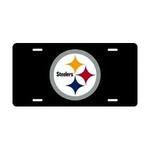 Pittsburgh Steelers Laser Cut Black License Plate Sports