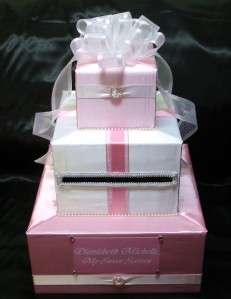 ELEGANT CUSTOM MADE WEDDING CARD BOX any design/color