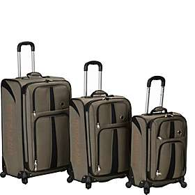 Rockland Luggage 3 Piece Eclipse Spinner Luggage Set