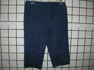 BETSEY JOHNSON denim tank top & capri pants outfit S/P