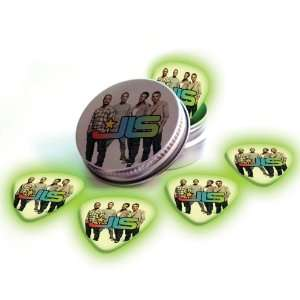 JLS 5 X Glow In The Dark Premium Guitar Picks & Tin