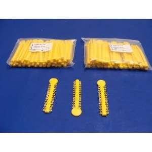 Dental Elastic Orthodontic Solid Yellow 2Pack/1040 Ligature Ties