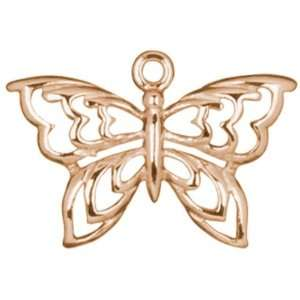 5pc 21x14mm Butterfly Charm   Rose Gold Plate Arts
