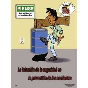 Accident Prevention Safety Poster (18 x 24 inch)   Spanish