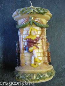 Vintage Medievil Castle Knights Jester German Candle