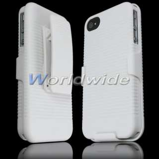 Clip Rubberized Hard Cover Skin Box Case For iPhone 4G 4S New