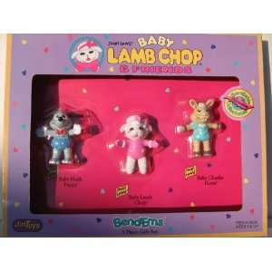 BABY LAMB CHOP & FRIEND Shari Lewis BEND EMS 3 PIECE GIFT