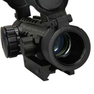 1x 30mm Fish Bone Red Green Dot Sight Scope Rifle Scope