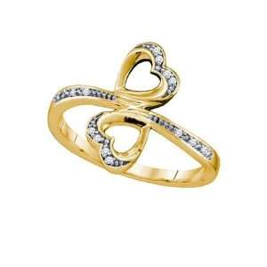 Diamond Micro Pave Heart Ring ( Size 7 H I Color, I1 I2 Clarity