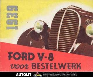 1939 Ford Truck Brochure Dutch Pickup Panel Stake