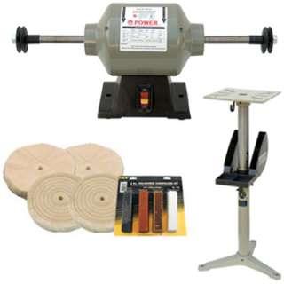 Buffing Machine w/ Adjustable Pedestal & Accessories