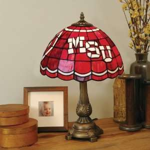 Mississippi State University Stained Glass Mission Style Lamp
