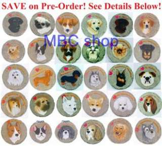 Dog Breeds Resin Garden Stepping Stones Home Decorative Wall Plaques