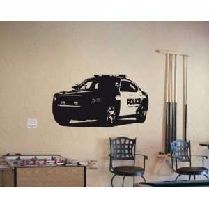 Wall MURAL Vinyl Sticker Car DODGE CHARGER POLICE 015