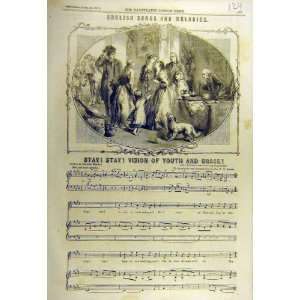 1857 English Songs Melodies Youth Grace Music Score: Home