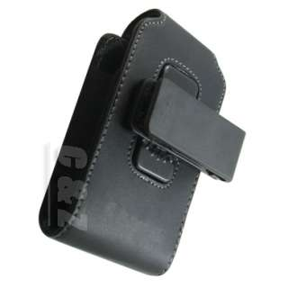 Leather Case Belt Clip Pouch Fo BlackBerry Torch 9800 d