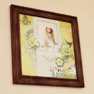 Prima   12 x 12 Wood Frame   Antique Brown Arts, Crafts