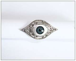 new fashion cool rhinestone evil eye design ring for women & men AAA