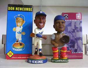 Roy Campanella + Don Newcombe Brooklyn DODGERS Bobble Bobbleheads Set