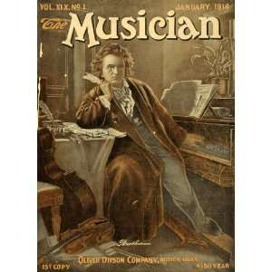 1914 Cover Musician Composer Ludwig van Beethoven Piano