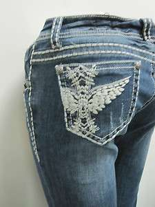 LA IDOL SCRIBE WING THICK STITCH DENIM JEANS 0 15