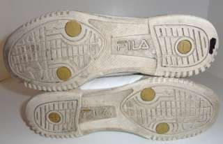 Fila Womens White/Gold High Top Sneakers Size 10