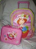Shortcake Rolling Backpack+lunch box School bag set Original new