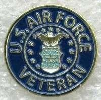 AIR FORCE VETERAN CUSTOM MILITARY PIN