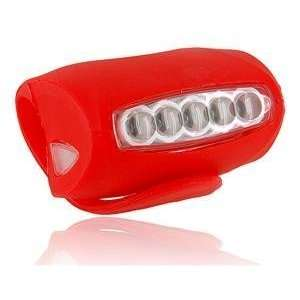 5 led bicycle bike safety torch flash light whole Sports