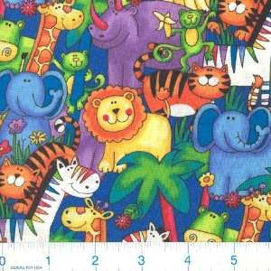 Jungle Safari Jungle Animals Fabric By The Yard: Arts, Crafts & Sewing