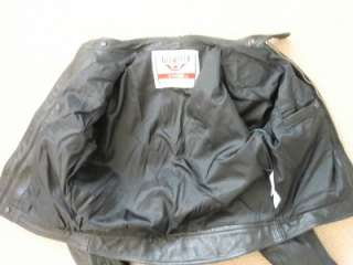 Womens Black Leather Firstgear Motorcycle Jacket Sz M