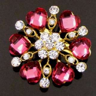 ADDL Item  1 pc Austrian rhinestone crystal flower