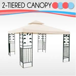 10 Replacement Gazebo Canopy Beige Top Cover Patio Outdoor Shade