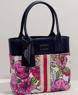 NEW Tommy Hilfiger Blue Floral Tote Bag Handbag Purse