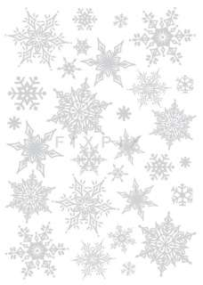 Christmas Decoration Silver Adhesive Removable Wall Decor Accents