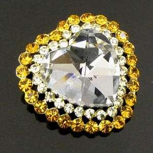 ADDL Item  1 pc Austrian rhinestone crystal heart brooch