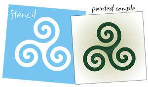 STENCIL Triskele Triple Spiral Wall Art Celtic Symbols