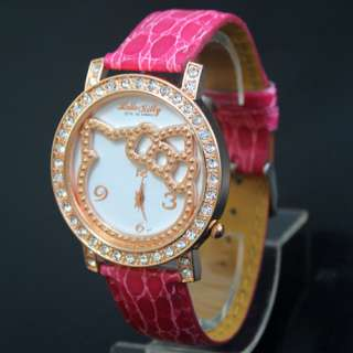 New Fashion Lovely HelloKitty Ladies Crystal ODM Big dial Watch