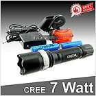 7w CREE Q5 LED Zoomable Bike Bicycle Head Light +Rear Zoom Flashlight