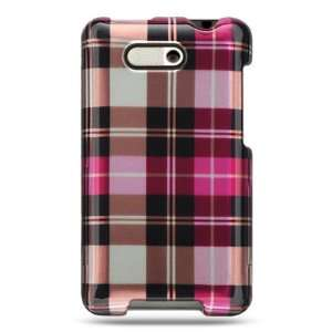 PINK PLAID DESIGN CASE for the HTC ARIA