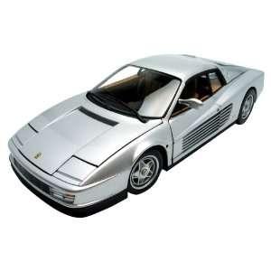 1/18 Scale Ferrari Testarossa Silver Toys & Games