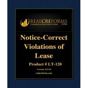 Notice To Correct Violation Of Lease