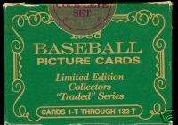 1988 Topps Complete BASEBALL 132 CARD Factory Sealed Traded TIFFANY